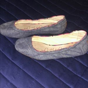 TOMS Denim One for One Flats